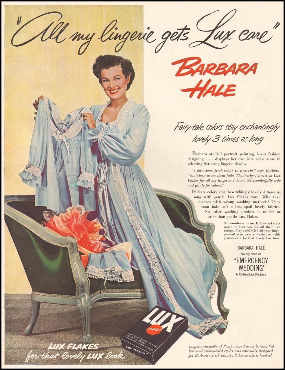 Lux Laundry Soap and Barbara Hale's Knickers